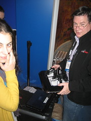 Intel Booth at CES 2009 -- Setting Up