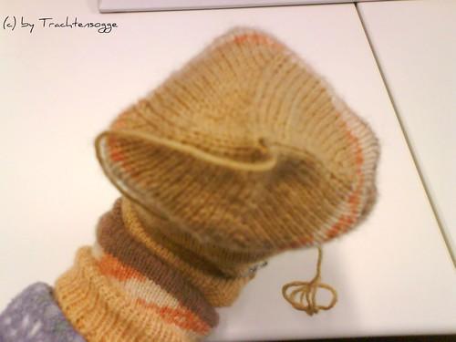 Toe-Up Socke #1 (Nahaufnahme Fußspitze)