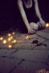 Reach (herestothemasses) Tags: blur brick dark candles rebecca flame filter
