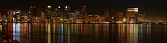 Downtown San Diego at night from Harbor Drive - panorama (San Diego Shooter) Tags: california wallpaper panorama downtown sandiego panoramas desktopwallpaper sandiegoskyline downtownsandiego challengeyouwinner sandiegoskylineatnight sandiegopanorama downtownsandiegoatnight animalwallpaper sandiegowallpaper sandiegodesktopwallpaper