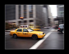 Yellow cab in New York (rabataller) Tags: nyc usa newyork yellow us manhattan cab yellowcab panning nuevayork nyctaxi barrido infinestyle rabataller sonyh50