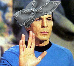 Spock wearing Aretha's Hat