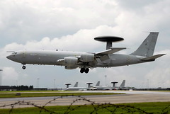 ZH105 E-3D Sentry Royal Air Force (eigjb) Tags: airplane force aircraft aviation surveillance military air royal boeing base raf waddington sentry boeing707 awacs e3d zh105