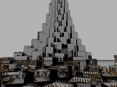 Devil's Tower (fdecomite) Tags: circle spiral packing chess math doyle chessboard povray