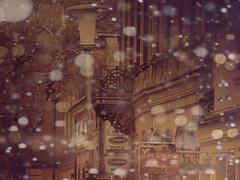 winter sorbet (~bumblebee(mirella)~) Tags: street houses winter beautiful photoshop vintage maroon balcony olympus bumblebee roofs textures layers lantern jamiroquai sorbet photoshop70 dreamscape vojvodina mirella wonderfulworld ♫♫