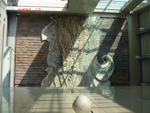 你拍攝的 橋仔頭捷運站的裝置藝術。