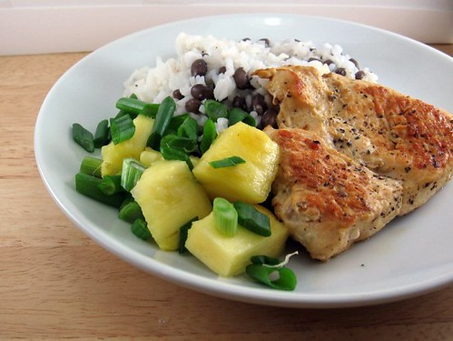 Jerk Chicken with Pineapple and Black Beans