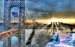 Morning light painted GW Bridge & Kevin (Tony Shi Photos) Tags: nyc hope photographer mlk gwb georgewashingtonbridge lightpainted martinlutherkingday 紐約 ньюйорк goodmorningnewyork ニューヨークシティ 뉴욕시 thànhphốnewyork न्यूयॉर्कशहर مدينةنيويورك biggestusflag 马丁路德金日 นิวยอร์กซิตี้