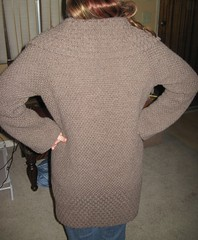 Texturized Tweed Coat, back