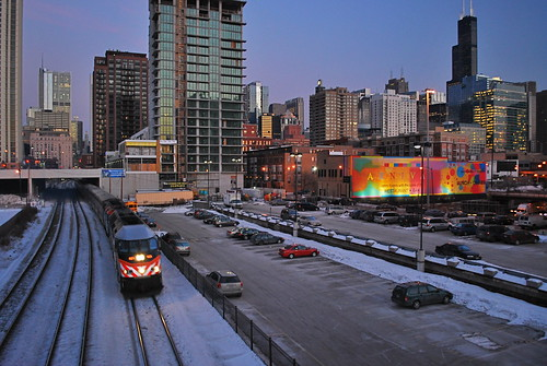 The Metra and downtown Chicago