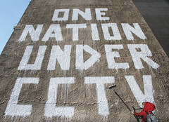 One Nation Under CCTV (Rashpal Amrit) Tags: wall graffiti stencil famous banksy spray