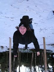 Topsy Turvy (fingeronthebutton) Tags: winter snow ice scotland upsidedown angus swing crombie inverted trompeloeil