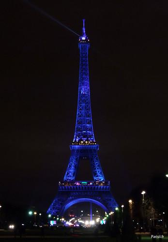 La Tour Eiffel vue du Champ-de-Mars