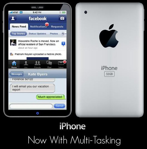 iPhone 4G Mockup, now with multi-tasking