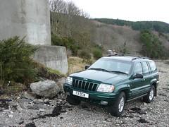 Jeep Grand Cherokee V8 (gwagenrally) Tags: bridge beach jeep grand gas cherokee lpg v8 wj autogas kessock