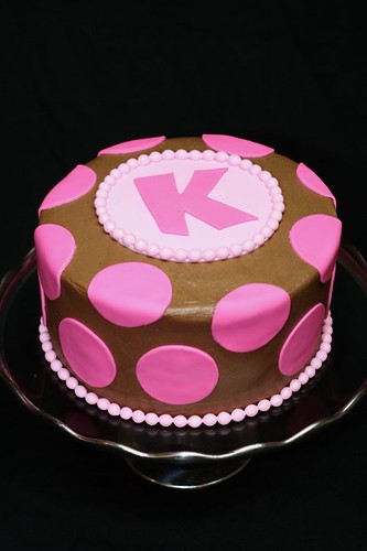 Pink Polka Dot Chocolate Cake