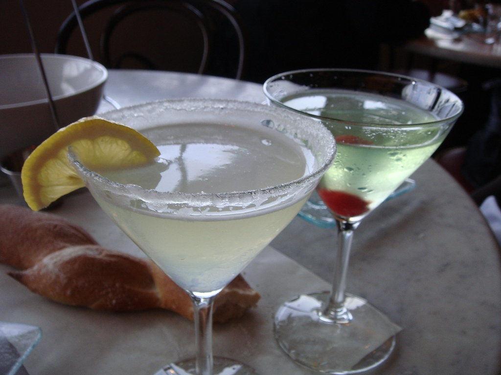 Lemon Drop & Appletini