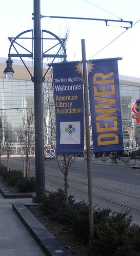 2009 ALA Midwinter Meeting banner outside Denver Convention Center