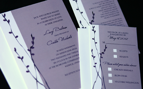 Willows Wedding Invitations, Branched tree willow wedding invitation idea, samples, wedding invitation, flowers, photos