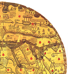 South-west corner of the mappa mundi Borgia (petrus.agricola) Tags: rome highresolution worldmap mapamundi borgia mappemonde mappamundi weltkarte mappamondo imagomundi bibliotecaapostolicavaticana mappamondoborgiano tavoladivelletri