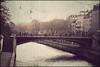Paris - little bridge (Manlio Castagna) Tags: world bridge sky people paris texture river manlio texturized manliok
