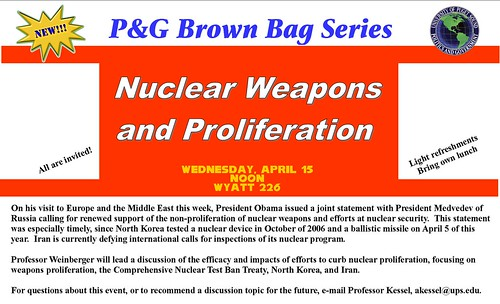 brownbag series_nuclear weapons and proliferation