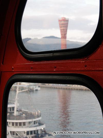 Kobe Port Tower as seen from the ferris wheel
