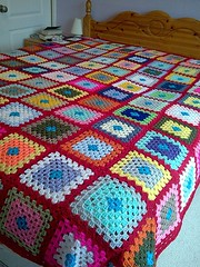 Project Finished (Pink Pink) Tags: crochet blanket afghan blankets granny throw afghans throws grannysquares
