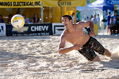 The AVP in Color:  Anthony Medel Dig (Kevin Gliner) Tags: beach sports dallas sand action tournament volleyball athlete avp canoneos1dmarkiii canonef70200f28lisusm anthonymedel kevinglinerphotography