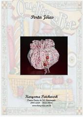 Porta Jias (Patchwork by Denise S Nascimento) Tags: infantil patchwork presentes trabalhosmanuais apostila enxovaldebebe apostiladepatchwork portajais enfeitedefeltrooutecido apostilasdepatchwork