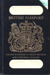 Old British passport cover