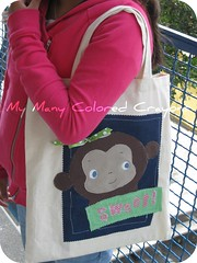 Molly Monkey Tote Bag