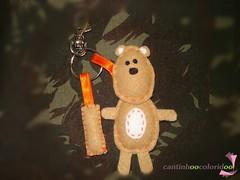 Fofuxo (cantinhoocoloridoo - Kelly) Tags: feltro urso chaveiro