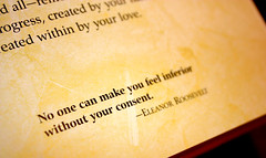""""""" No one can make you feel inferior without your consent """" (Megan Carlson) Tags: canon army eos rebel bokeh quote antique megan wife mrs thursday ambrose xsi eleanorroosevelt 450d"""
