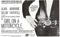 Girl on a Motorcycle - magazine advert (Covers etc) Tags: cinema leather magazine advertisement advert zipper 1960s catsuit alaindelon mariannefaithfull girlonamotorcycle