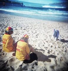 Coogee Patrol (Prue -) Tags: ocean sea film beach holga lomography sand waves sydney australia patrol coogee 120mm lifesaving