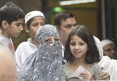 Some eyes, Old Delhi (sanjayausta) Tags: street old people india streets female portraits photography women asia veiled candid delhi indian hijab niqab ethnic sanjay clad veils in chandni chowk burka bazaars austa