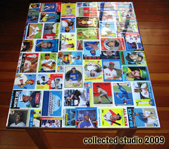 Baseball Card Collage Table (collectedstudio) Tags: collage table cards oak baseball furniture ryan howard funky mickey tony end henderson ernie banks mantle ramirez reggiejackson hanley gwynn rickey josecanseco robinyount rolliefingers