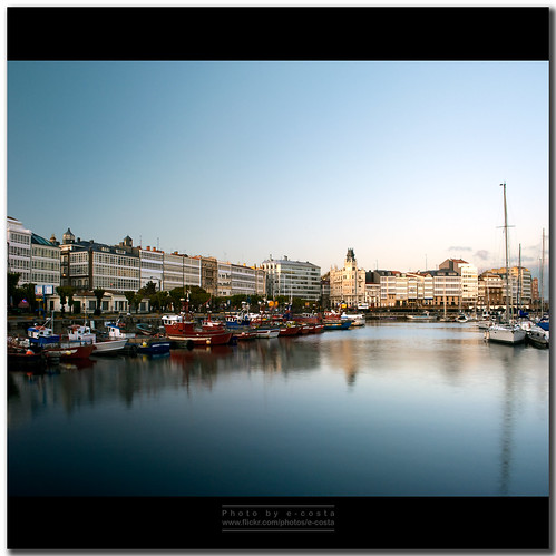 La Coruña - La Marina por e-costa.