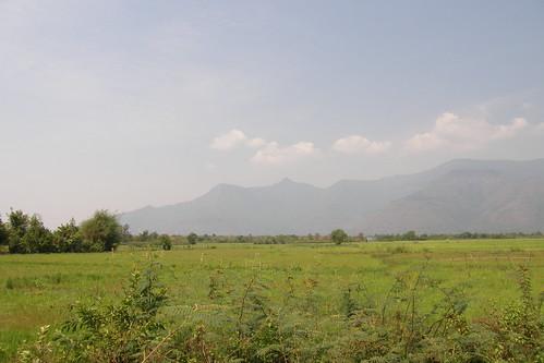 071.Champasak一望無際的平原與山景