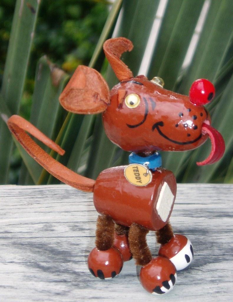 vintage style toy dog - teddy rednose