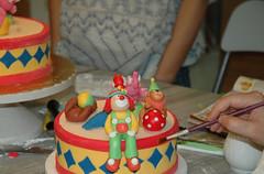 Zeynep Ada ile sirk temalı maket pasta..