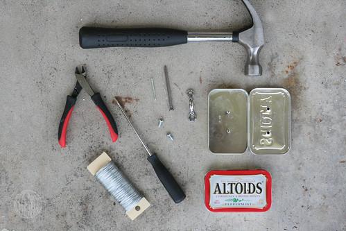 tools needed to make mini altoid toolboxes