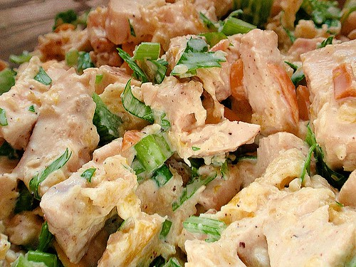 Deliciously Golden: Pineapple Almond Chicken Salad