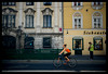 Vienna Siebensterngasse Space Invader (Stewart Leiwakabessy) Tags: vienna wien houses windows woman house lamp girl bike wall hunting spaceinvader 2006 stewart tanktop hunter perry perky leiwakabessy stewartleiwakabessy siebensterngasse wn16 siebenste