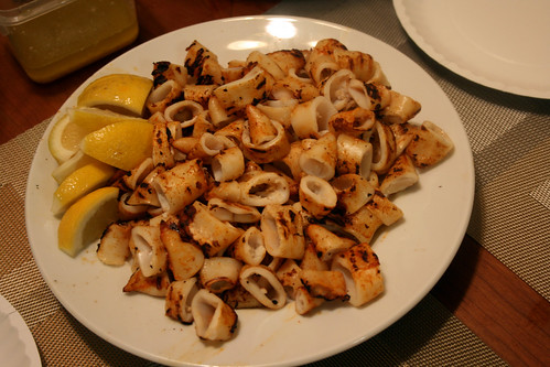 Spicy Grilled Squid