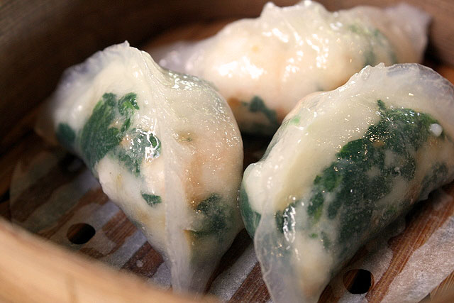 Scallop and Spinach Crystal Dumpling