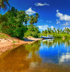 Pontal de Maracape - Porto de Galinhas (Omar Junior) Tags: blue sky reflection verde green praia water yellow azul brasil reflections landscape geotagged surf barco foto pentax photos d paisagem amarelo porto photographs grama fotos junior beaches recife arvore omar ist turismo rvore reflexo cavalo ceu pousada pernambuco pontal praias playas pentaxistd paraso marinho portodegalinhas jangada galinhas muroalto brancas macara coqueirais manguezal maracaipe maracape ipojuca verto pontaldemaracape surfpoint vertorama pontaldomaracape xalesdemaracaipe portodegalinhaspernambucobrasil pousadabrisas geo:lat=8517363 geo:lon=35004158