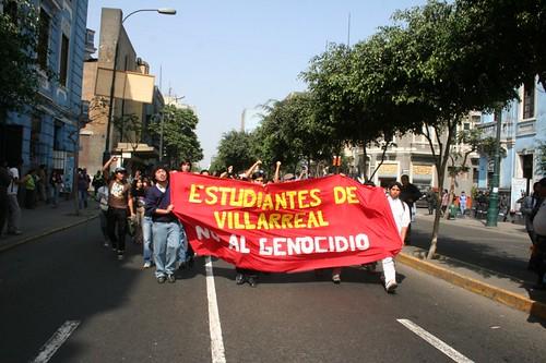 Estudiantes de Villareal rechazando el genocidio por ALTERNATIVA PRENSA.