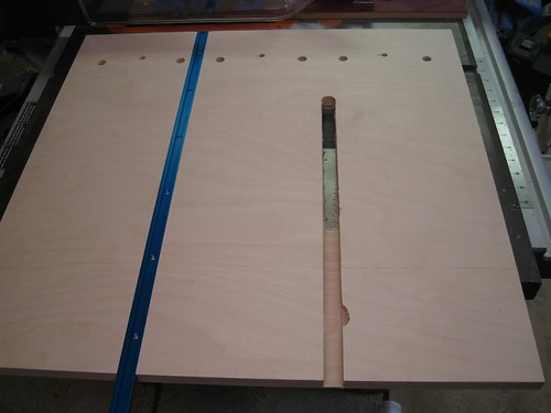 badly routed groove in resawing jig base